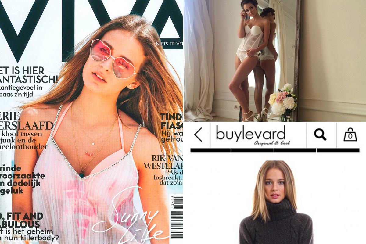 Escanes en la portada de una revista alemana o posando en el catálogo de Buylevard.
