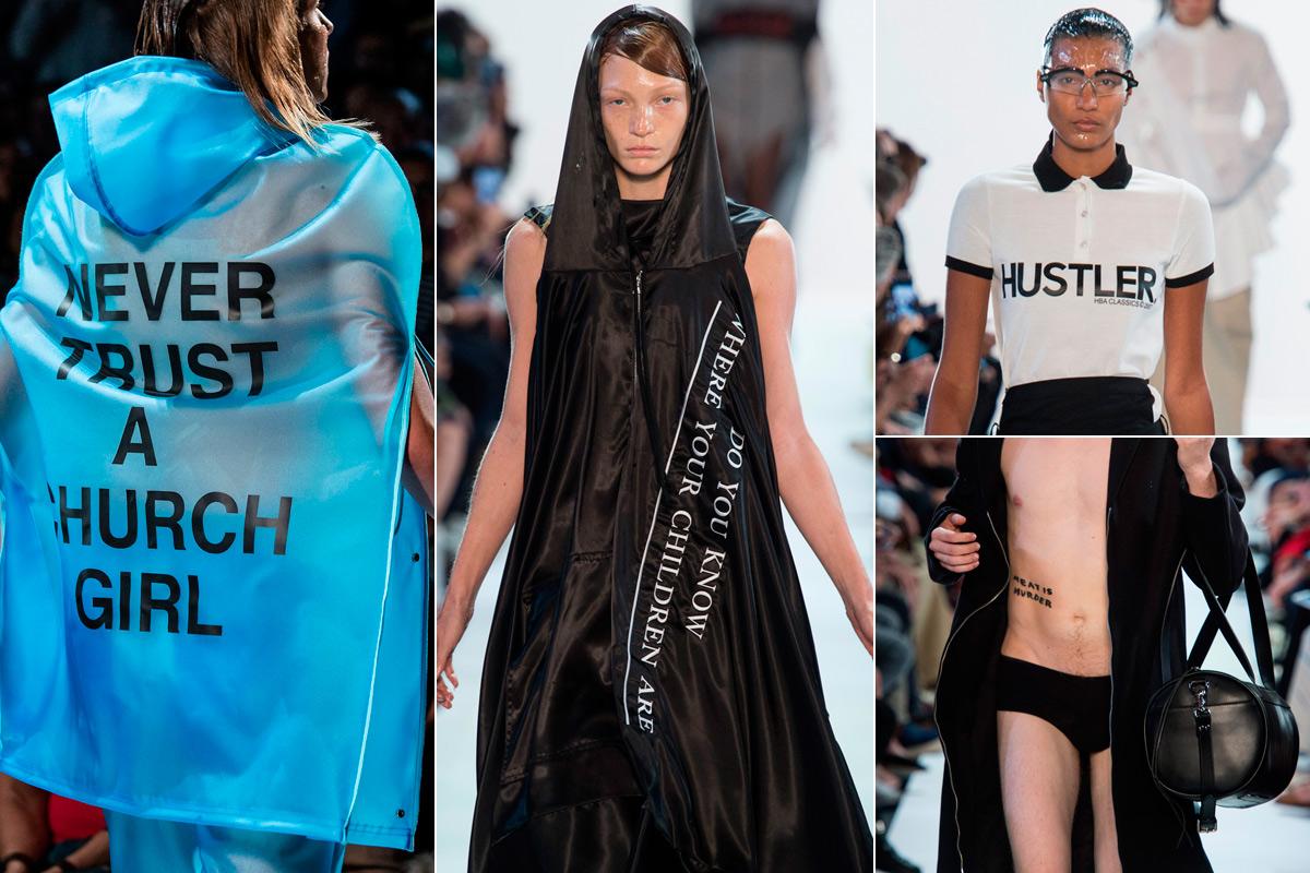 Los provocadores mensajes de sus diseños.