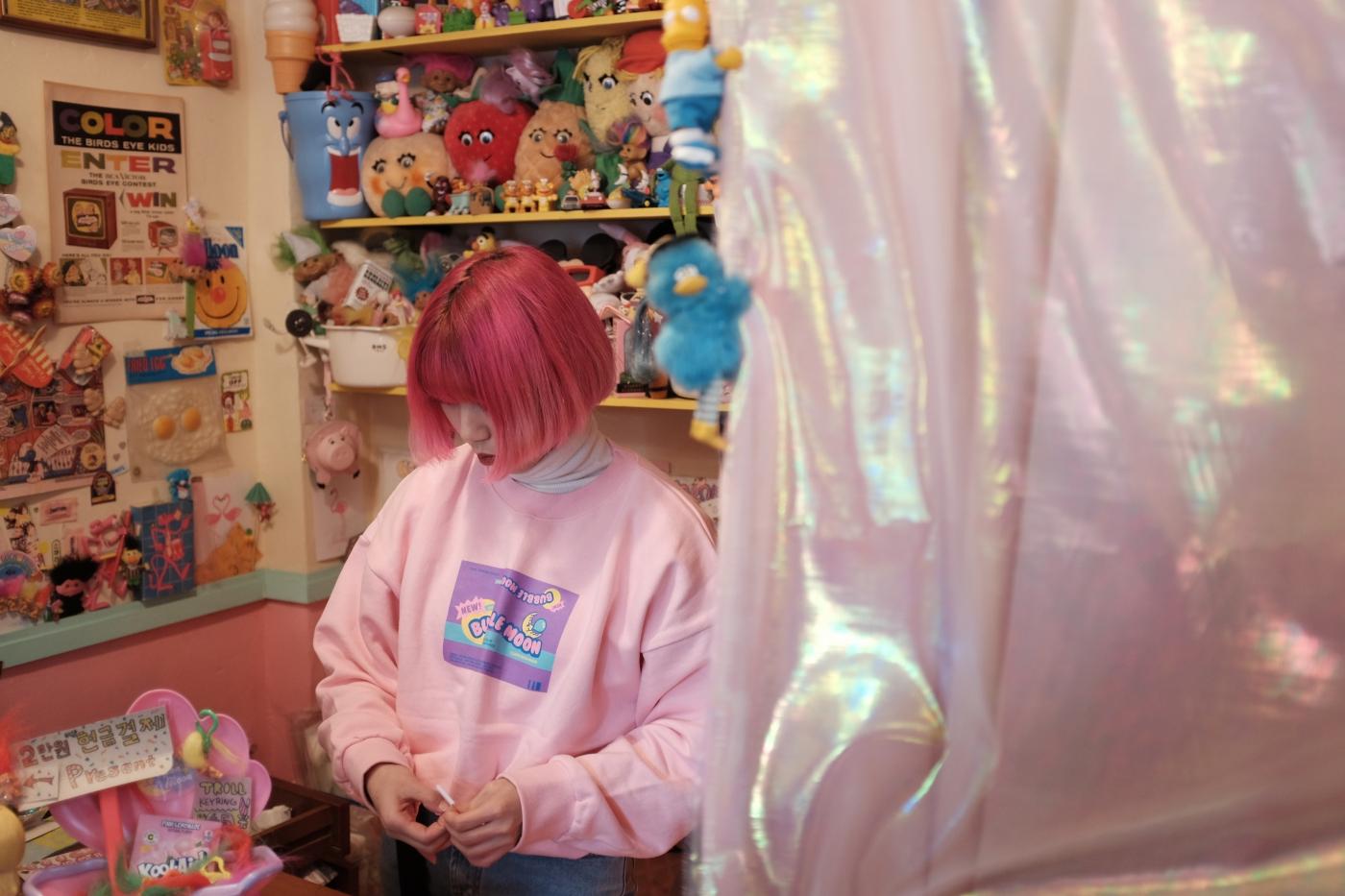La tienda Neon Moon, en Yeonnam-dong