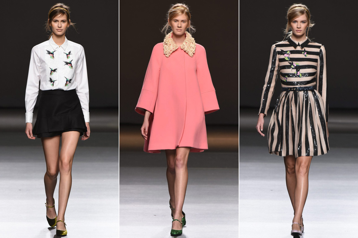 Tres diseños de su colección 'Outsiders', presentada el pasado mes de febrero.
