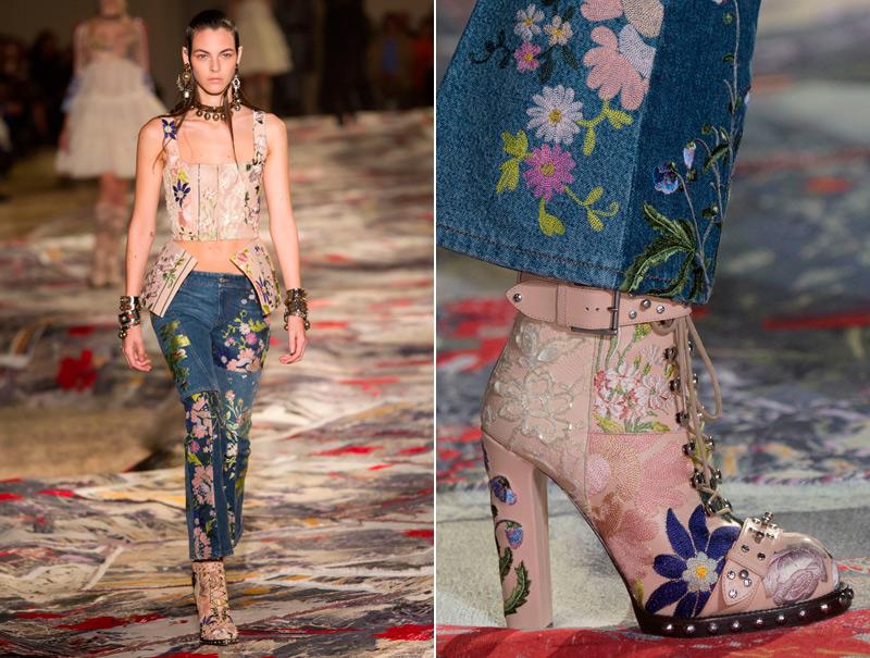 Las botas bordadas de Alexander McQueen