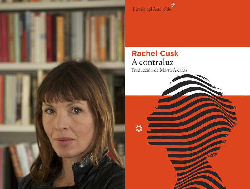 Rachel Cusk y la portada de 'A Contraluz' (Libros del Asteroide)