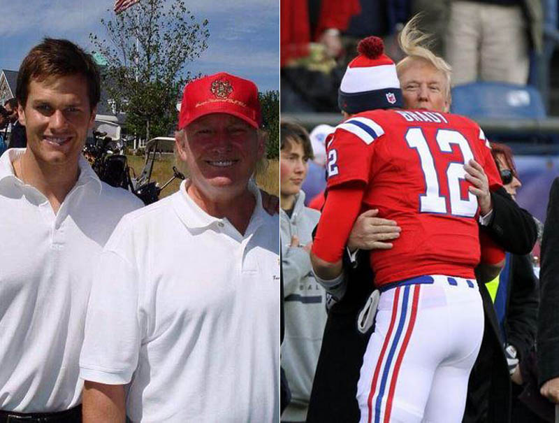 Donald Trump y Tom Brady