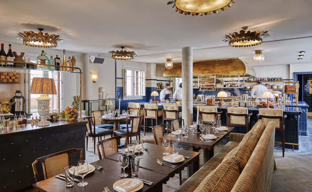 Así es el restaurante solo para miembros y huéspedes de la quinta planta