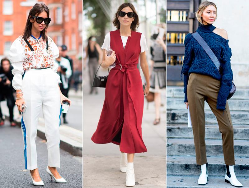Zapatos y botines blancos, la tendencia de la que no vas a poder escapar