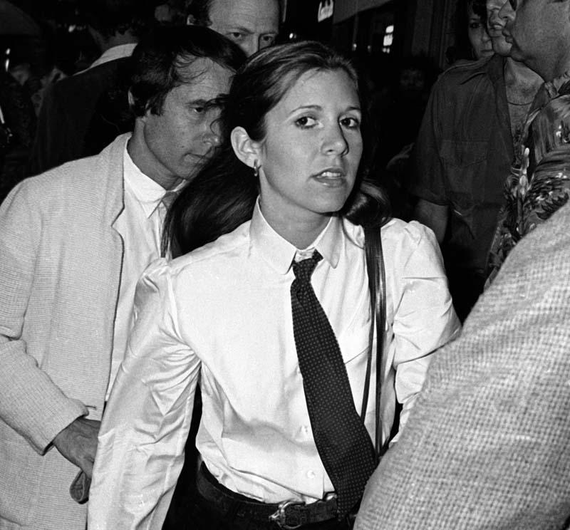 Paul Simon y Carrie Fisher en 1979.