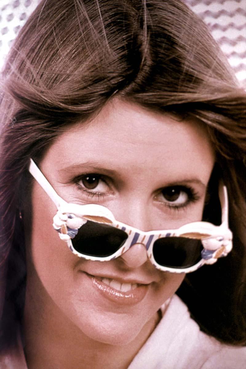 Carrie Fisher, en una imagen de los 70.