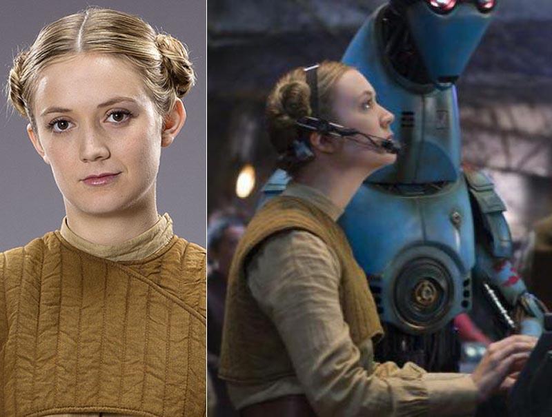 Billie Lourd, como la teniente Connix en 'El despertar de la fuerza'.
