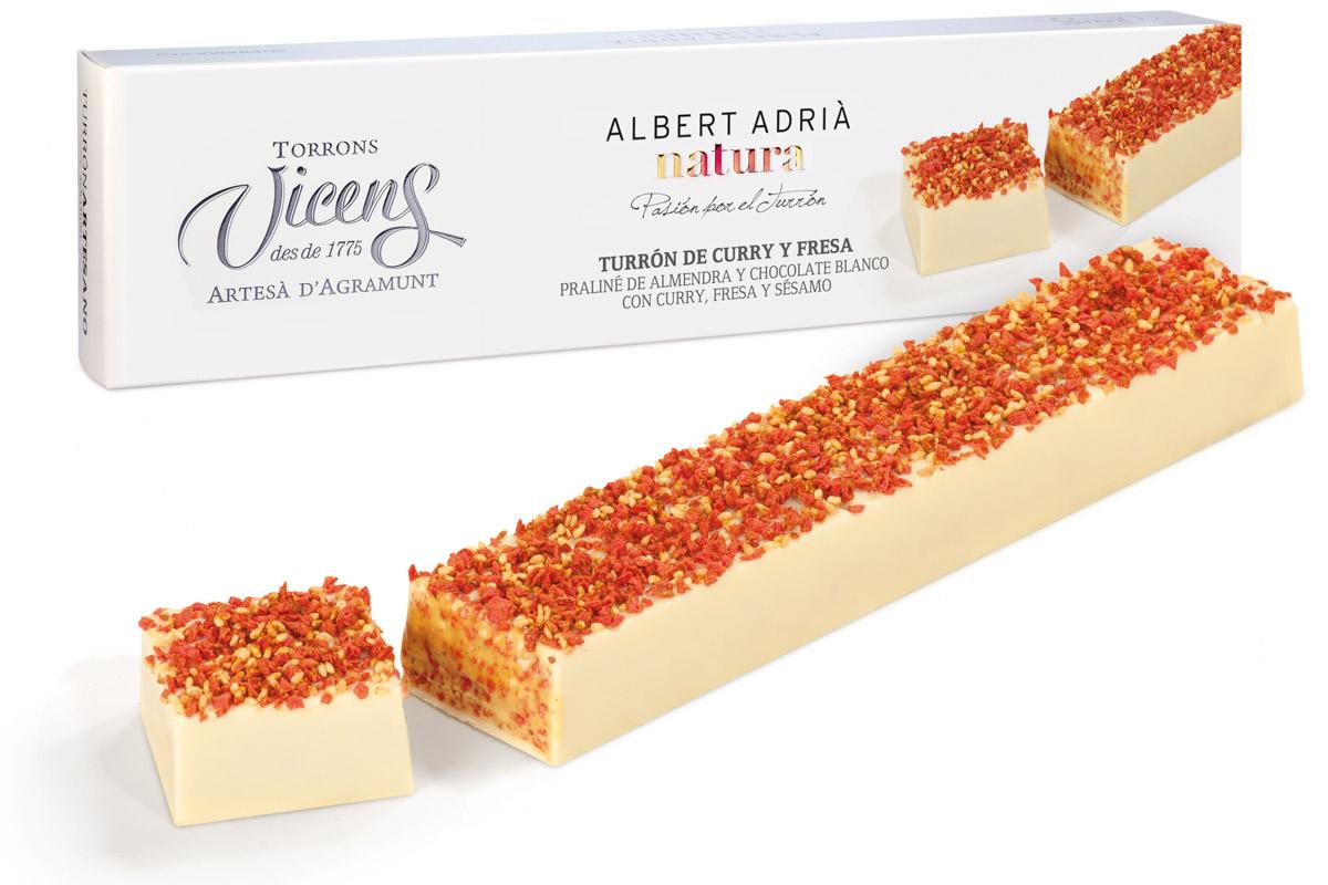 'Curry y fresa', uno de los sabores más sorprendentes de la línea Adrià Natura de Torrons Vicens.