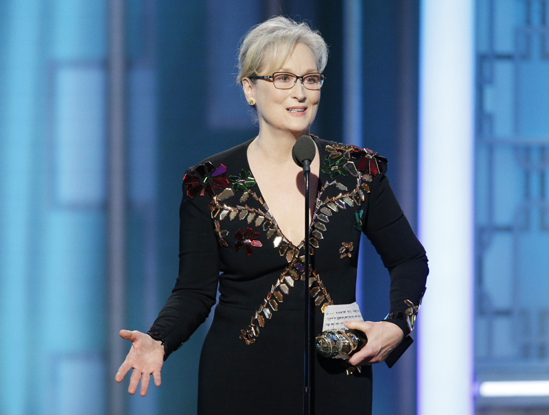 Las cinco advertencias de Meryl Streep contra Trump en los Globos de Oro