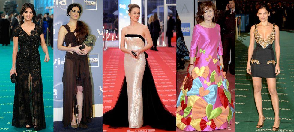 100 vestidos que ya son historia de los Premios Goya