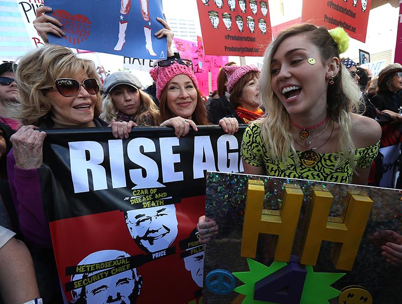 Así marcharon las 'celebrities' por los derechos de las mujeres