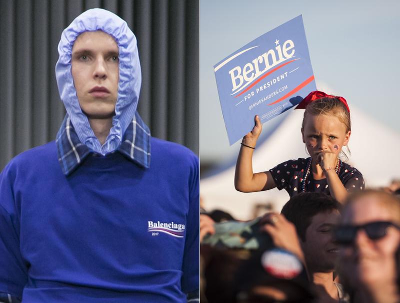 Balenciaga copia el logo de Bernie Sanders (y él responde)