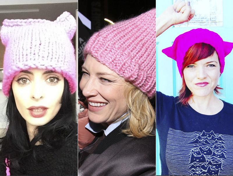 La historia del 'Pussy Hat', el gorro anti Trump que tiñó todo de rosa