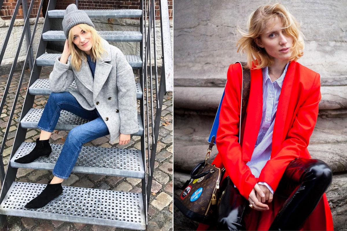 Marie Hindkær Wolthers y Laura Tonder, dos de los rostros más buscados del 'street style' nórdico.