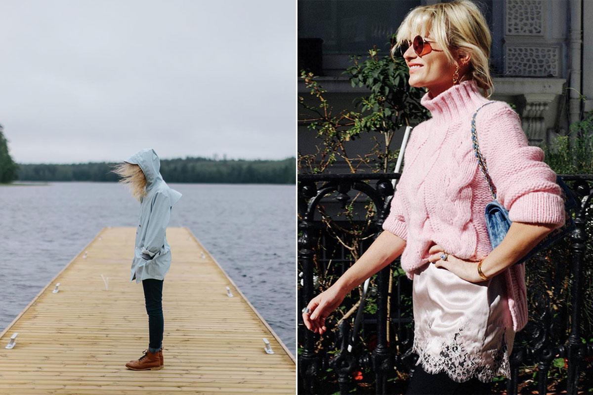 Los aclamados chubasqueros de Rains y el famoso jersey rosa (que ha lucido toda la blogosfera) de Ganni.