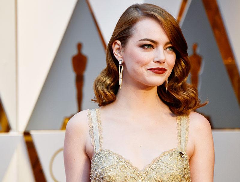 El maquillaje de Emma Stone, el mejor de la noche
