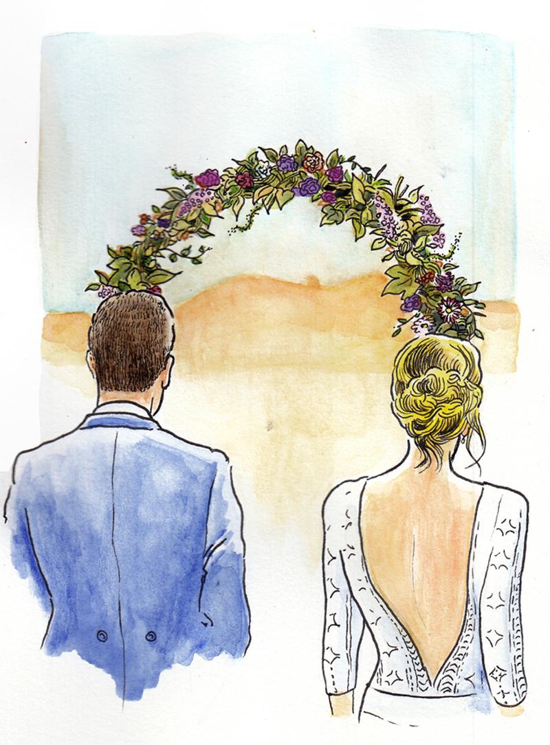 dibujos de matrimonio