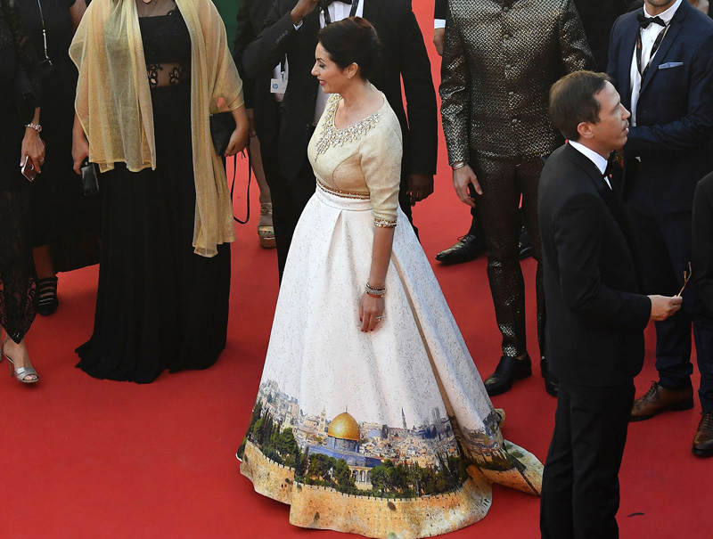 El polémico vestido de la ministra de Israel en Cannes provoca una oleada de memes