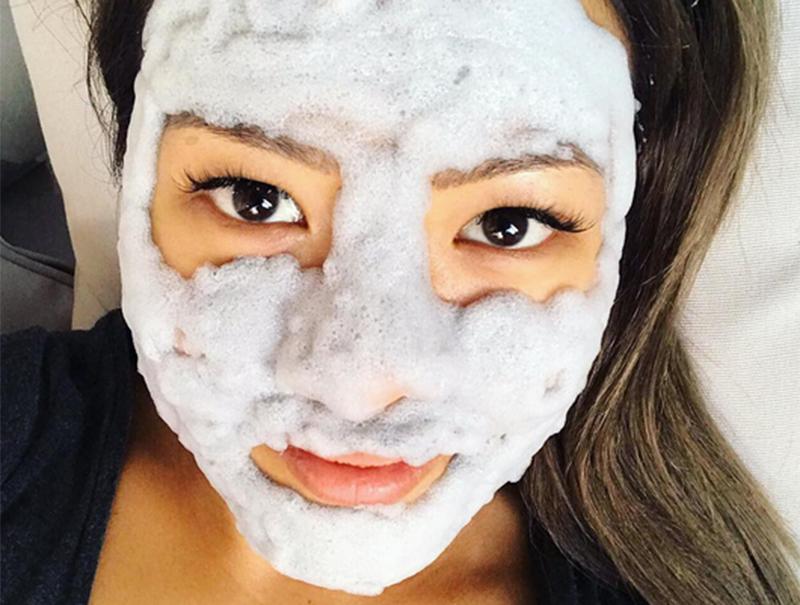 Lo último en belleza coreana son las mascarillas de burbujas
