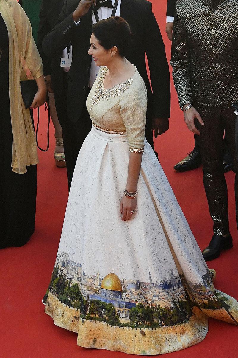 vestido ministra israel festival de Cannes