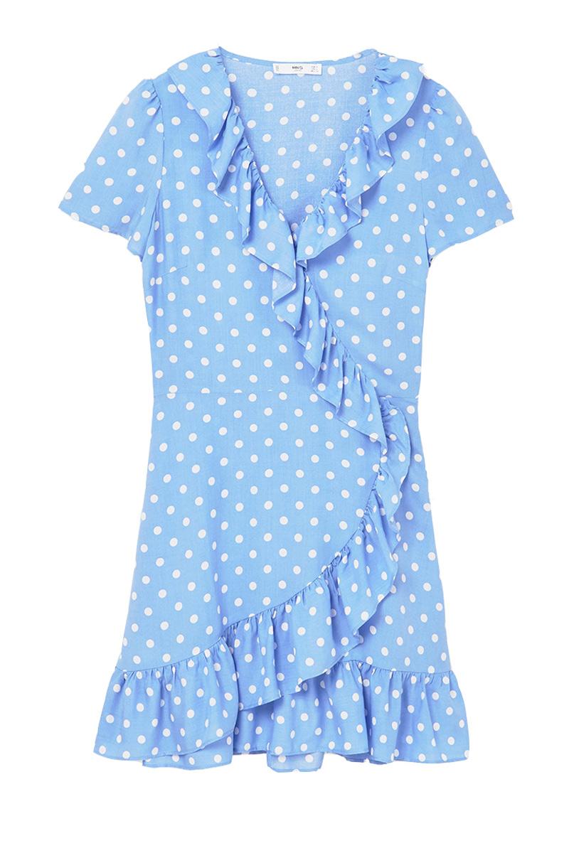 Vestido rayas azules mango