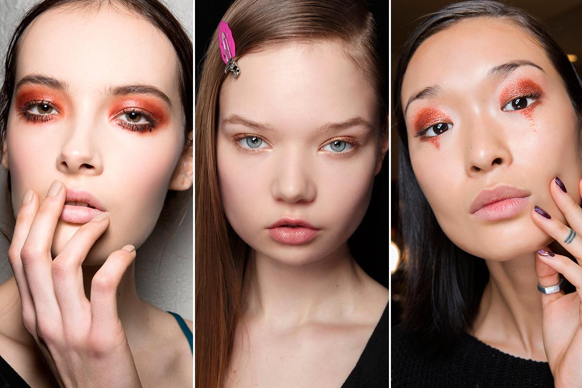 maquillaje ojos color cobre