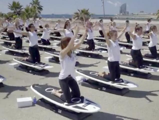 Así fue el 'surf camp' de Oysho en Barcelona