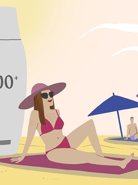 Alergia al sol: ¿por qué me salen granos después de broncearme?