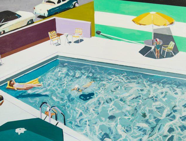 La artista que sueña con bañarse en una piscina de los años 50