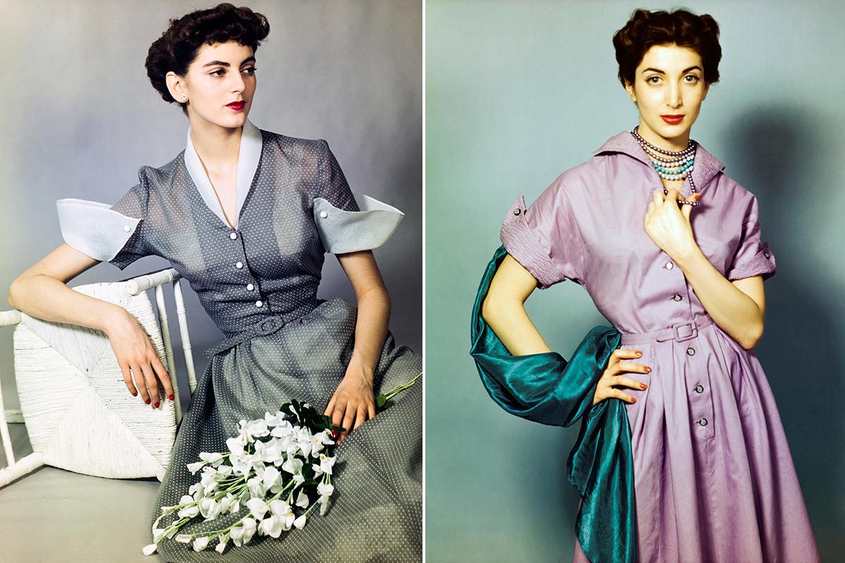 c825013cbf A finales de los 40 la cintura de los vestidos se estrechará todavía más  por influencia del  New Look  de Dior. Foto  Getty