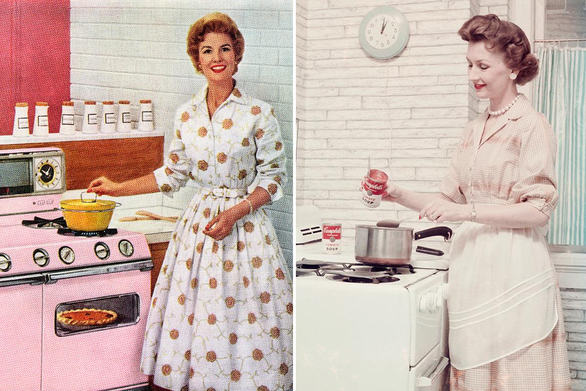 1805406aba El ideal de ama de casa de los 50 es que debía estar impecable también en el  hogar. Por eso necesitaba prendas cómodas y prácticas sin perder estilo.