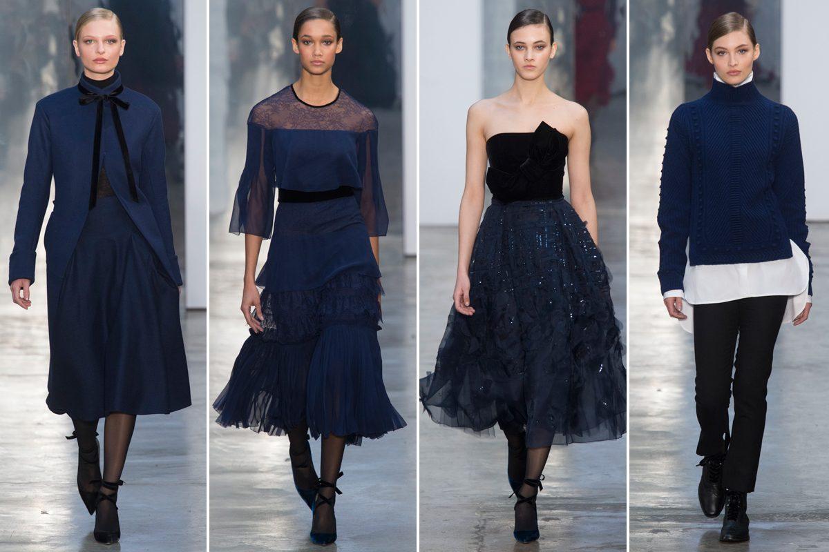 Vestido negro accesorios azules