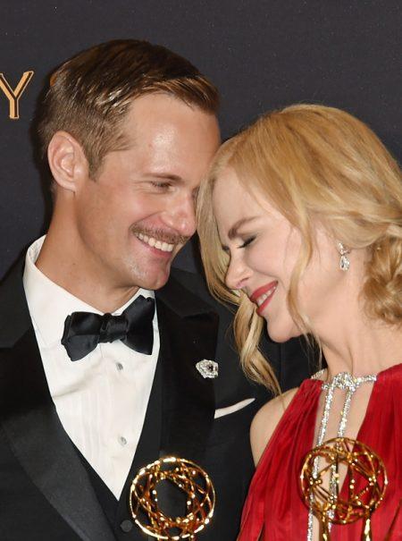 Lo más viral de la noche no fue Nicole Kidman aplaudiendo: fue su beso con Alexander Skarsgard