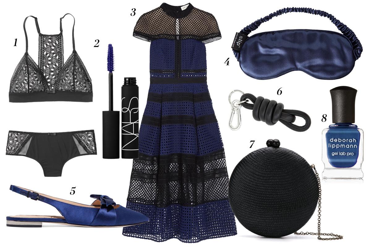 azul marino y negro