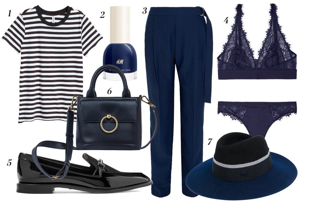 Como combinar un vestido azul marino de terciopelo