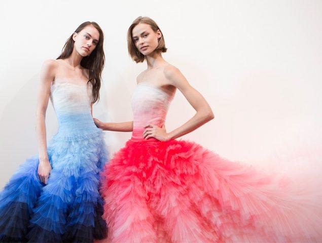Oscar de la Renta nos hace soñar con sus vestidos de tul