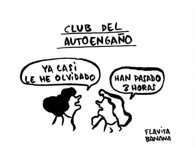 La viñeta de Flavita Banana: el club del autoengaño