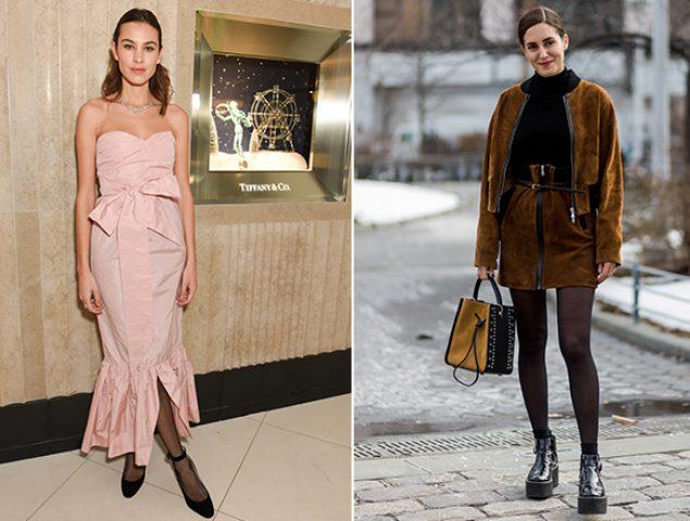Guerra al frío: 20 maneras de llevar medias negras con mucho estilo