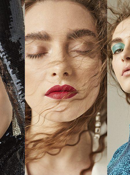 Tres looks para jugar con el maquillaje en estas fiestas
