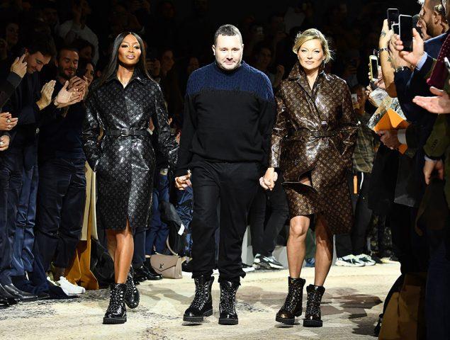 Naomi Campbell y Kate Moss cierran el desfile masculino de Louis Vuitton