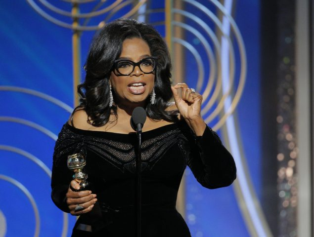 Así fue el demoledor discurso feminista de Oprah Winfrey