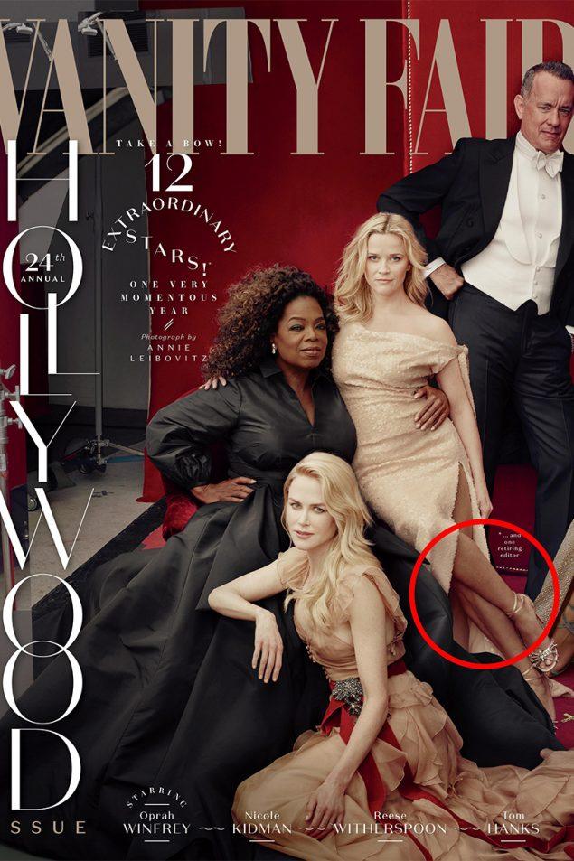 Oprah tiene tres manos y Reese Witherspoon tres piernas (gracias al Photoshop)