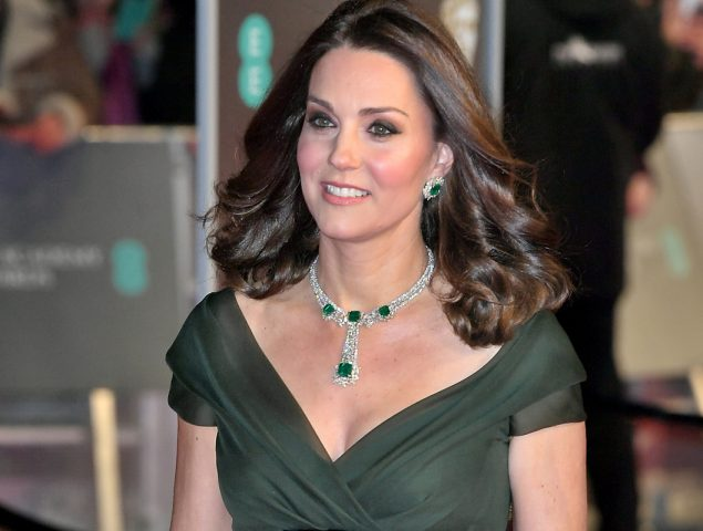 Kate Middleton viste de verde en los BAFTA y se desmarca del movimiento Time's Up
