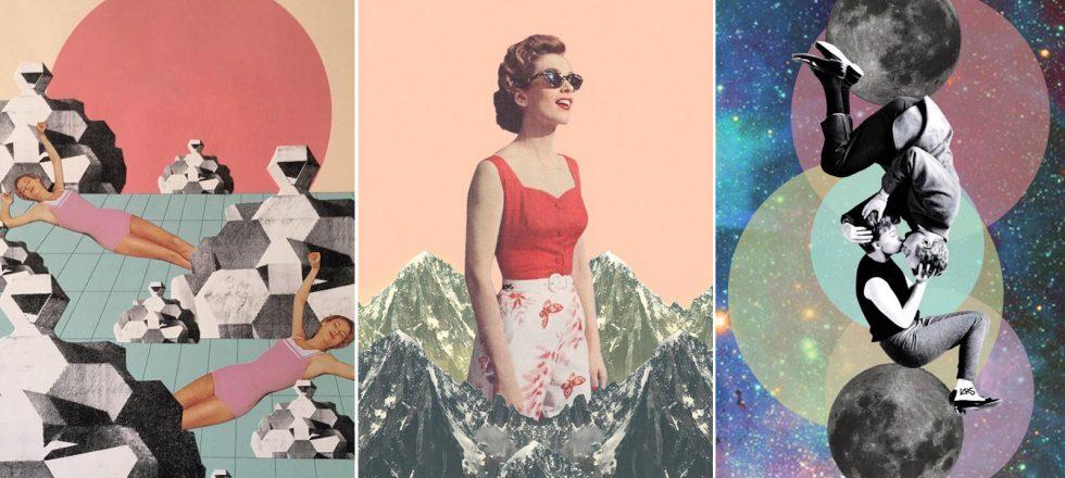 Descubre los collages feministas de Lara Lars (donde las mujeres liberadas y los ovnis conviven)