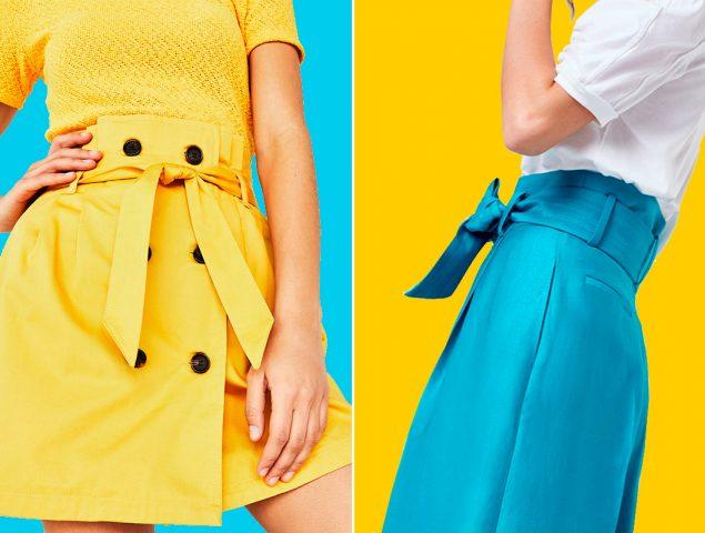 'Paper bag', la silueta que querrás en tus pantalones y faldas esta temporada