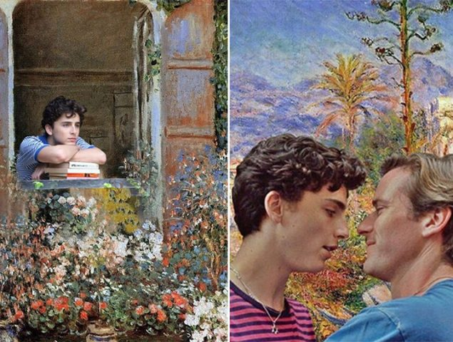 'Call me by Monet', el Instagram del momento mezcla cuadros con escenas de la película