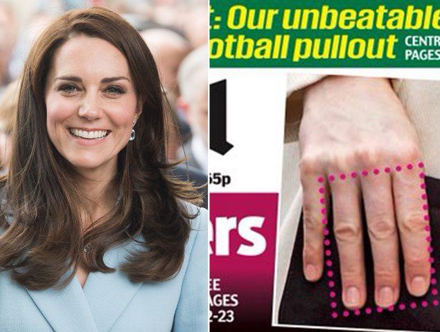 Twitter responde a la obsesión de los tabloides con los dedos de Kate Middleton