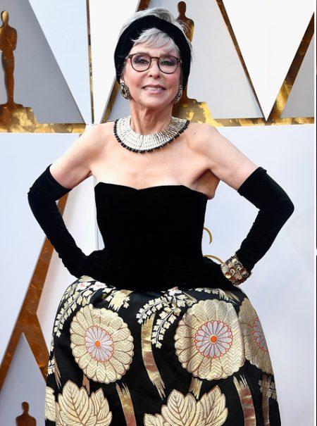 Rita Moreno repite el vestido con el que ganó el Oscar en 1962
