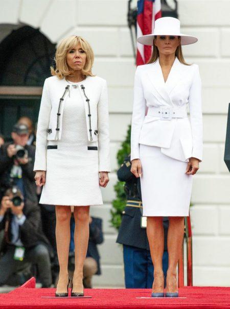 """Brigitte Macron dice que Melania Trump vive recluida sin """"poder hacer nada"""""""